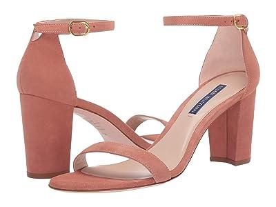 Stuart Weitzman Nearlynude Ankle Strap City Sandal (Desert Rose Suede) Women