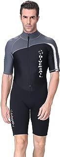 DIVE&SAIL Men 1.5mm Neoprene Shorty Westuit UPF 50+ UV Protection Quick Dry Dive Skin