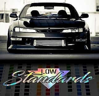 Low Standards Stance Japanese Windshield Decal Sticker - Oil Slick - 24