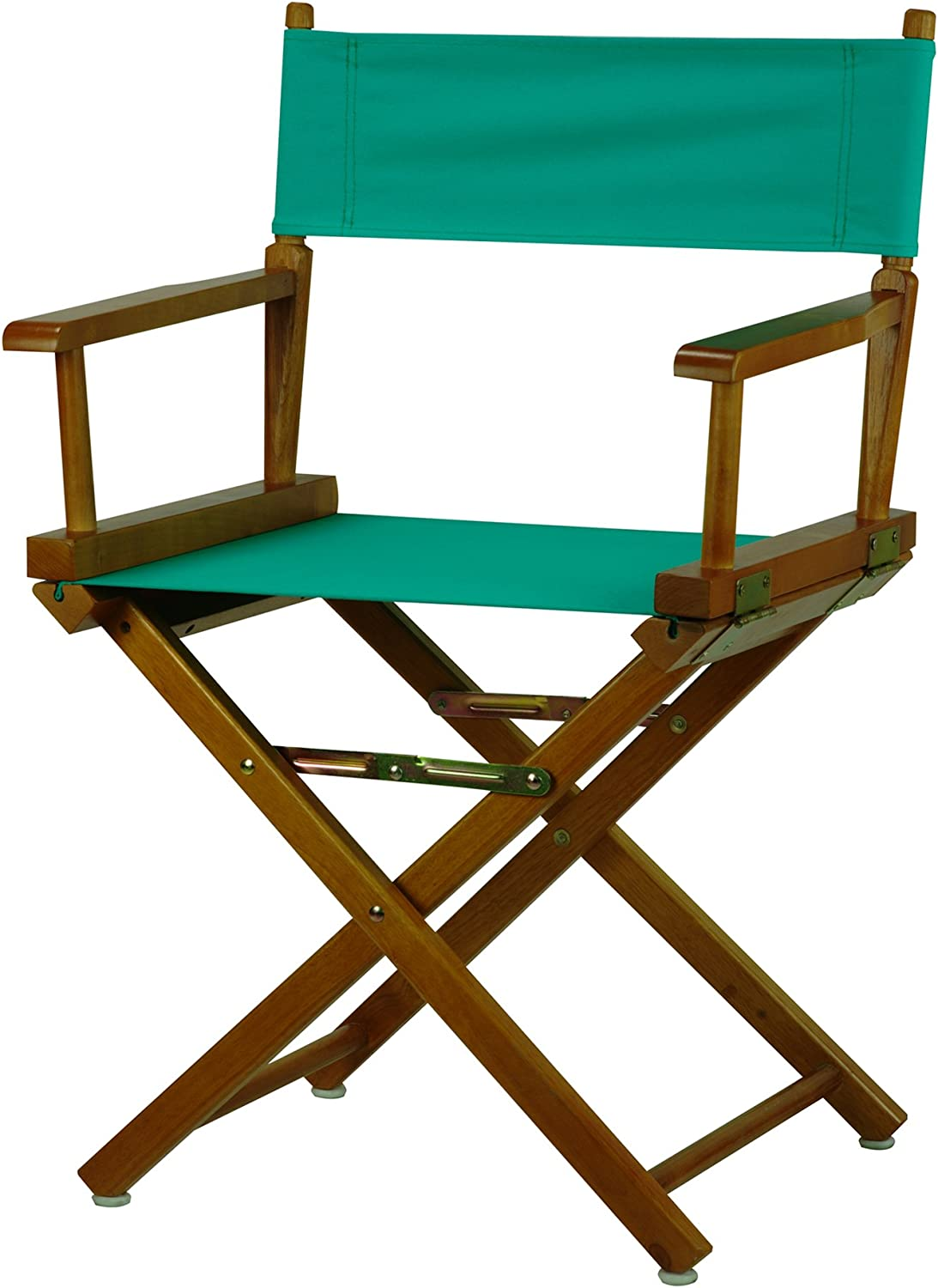 Casual Home 18-Inch Director Chair Honey Oak Frame, Teal Canvas