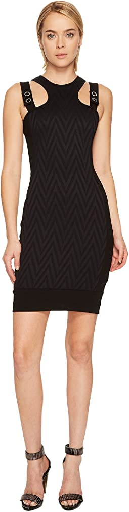 Versace Jeans - Chevron Sleeveless Dress