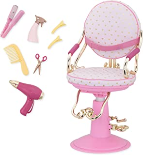 Our Generation Salon Chair Pink with Hearts 18 Doll