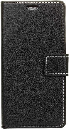 Zhangl Fundas de Cuero para teléfonos móviles Funda de Cuero con Tapa Horizontal para Sony Xperia L1 Texture con Soporte, Ranuras para Tarjetas y Cartera Estuches de Cuero (Color : Black)