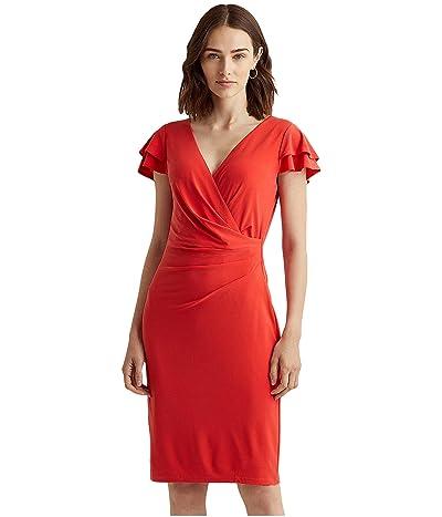 LAUREN Ralph Lauren Flutter-Sleeve Surplice Dress
