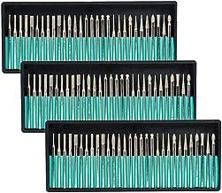 SODIAL Taladro Brocas de Rebaba de Diamante Vidrio Piedra Preciosa Metal Para Dremel Herramienta Rotativa de Molienda, 90 Piezas 1/8 Pulgadas (3 Mm)