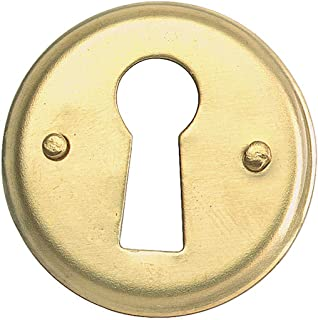 Escutcheon Solid Brass Keyhole Cover 1