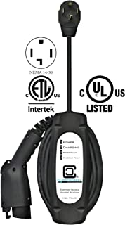 ClipperCreek LCS-20P, 240V,16A, EV Charging Station, with 14-30 Plug, 25 ft Cable, Safety Certified, Made in America
