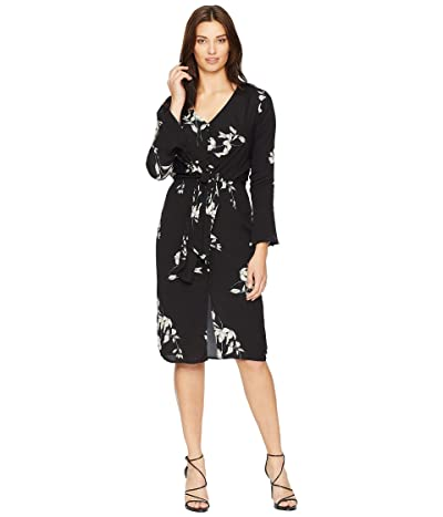 American Rose Dakota V-Neck Dress (Black) Women