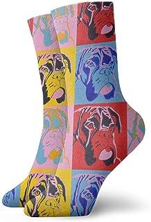 Jhonangel, Niños Niñas Loco Divertido Boxer Perro Perro Amante Calcetines lindos del vestido de la novedad