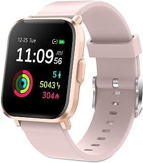 GRDE Reloj Inteligente Hombre Mujer, Smartwatch Fitness 24H Monitor de Oxigeno(SpO2)/Ritmo Cardíaco/Sueño 5ATM Impermeable Reloj GPS Running con 18 Modo Deportivos, Reloj Pantalla Táctil con Podómetr