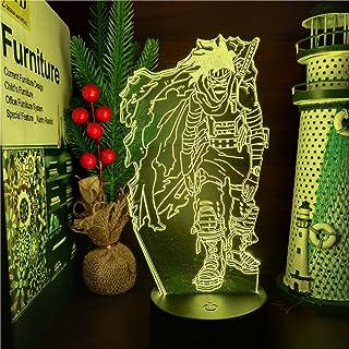 3D الوهم مصباح الجدول المزاج ليلة الخفيفة بوكو تشيزوم أكاجورو أنيمي بلدي بطل الأكاديمية البصرية -16 لونا مع جهاز تحكم عن بعد