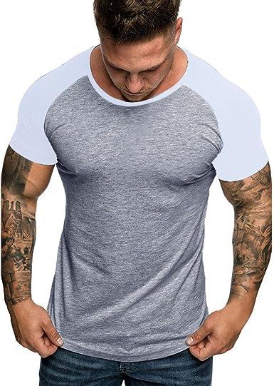 Camiseta de Manga Corta con Cuello en V para Hombre de ...