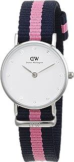 Daniel Wellington 丹尼尔?惠灵顿 瑞典品牌 摩登系列 石英女士手表 尼龙表带 镶钻手表