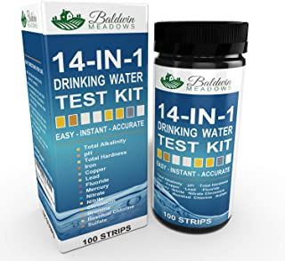 14-in-1 Drinking Water Test Kit by Baldwin Meadows - Water Quality Test for Well Water and Tap Water - IMPROVED SENSITIVIT...