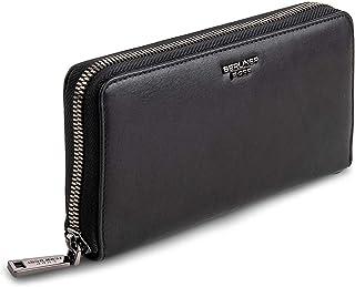 Berliner Bags Premium Geldbörse Lyon aus Leder mit RFID-Schutz, Portemonnaie für Damen - Schwarz