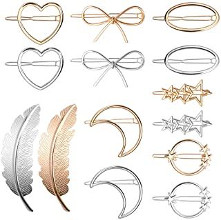 14 piezas Horquillas Pelo Metal Clips de Pelo Accesorios para Mujer Niña Fiesta Boda