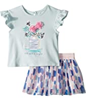 Kate Spade New York Kids - Flower Cat Skirt Set (Infant)