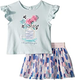 Flower Cat Skirt Set (Infant)