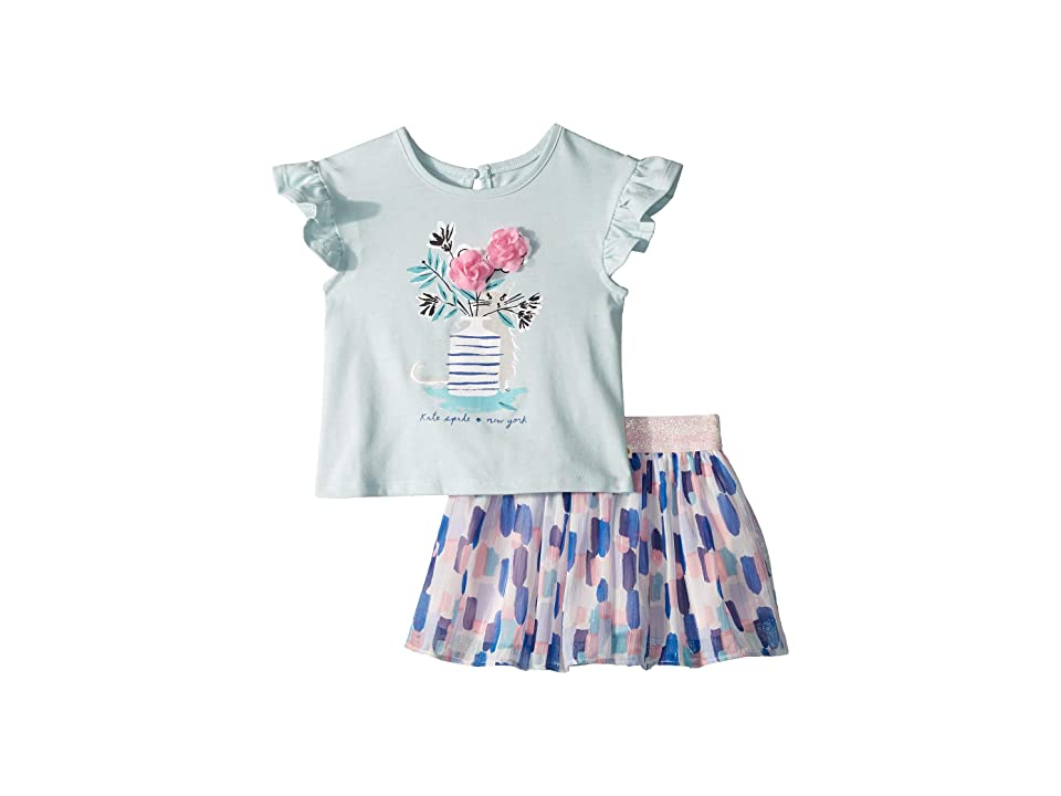 Kate Spade New York Kids - Kate Spade New York Kids Flower Cat Skirt Set