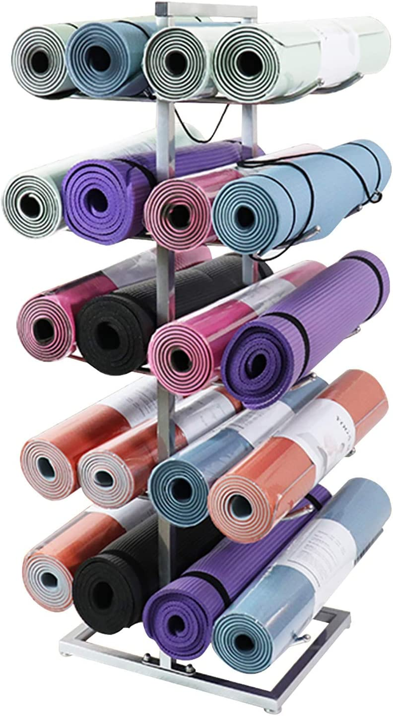 Silver Yoga Louisville-Jefferson County Mall Mat Storage Holder Extra Roller Foam Coach Max 51% OFF Or Large