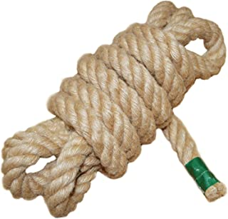 Twisted Manila Rope Jute Rope (1 in x 10 ft) Natural Thick Hemp Rope for Crafts, Nautical, Landscaping, Railings, Hanging Swing