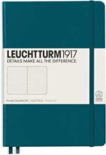 Leuchtturm1917 Hardcover A5 Medium | Dotted Notebook | Pacific Green