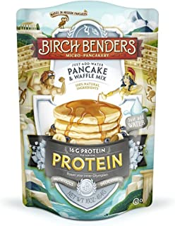 Birch Benders, Protein Pancake and Waffle Mix with Whey Protein, Just Add Water, 16 Ounce
