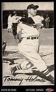 1947 Bond Bread # 19 Tommy Holmes (Baseball Card) Dean's Cards 7 - NM