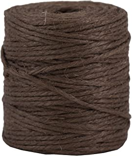 JAM PAPER Kraft Twine - 1/8 x 73 yards - Chocolate Brown - Sold Individually