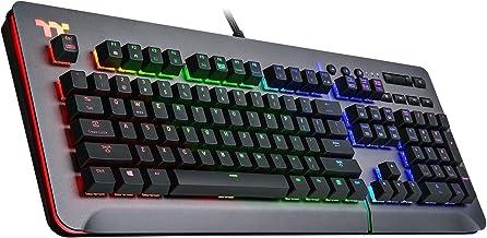 Thermaltake Level 20 RGB Titanium Aluminum Gaming Keyboard Cherry MX Silver Switches, 16.8M Color RGB, 32 color zone optio...