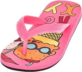 Roxy Kids Teenie Slap Flip Flop in Neon Pink, Size 10 UK