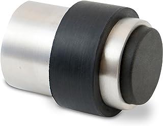 Stoppenwerk deurstopper voor schroeven - montage op de vloer of aan de wand - roestvrijstalen rubberen wanddeurstopper inc...