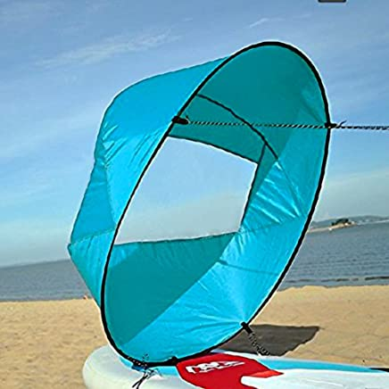 GOTOTOP 42inch Foldable Wind Paddle Popup Board Kayak Sail with Clear Window and Storage Bag