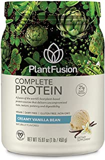 PlantFusion Complete Plant Based Pea Protein Powder | Dietary Supplement |Non-GMO, Vegan, Dairy Free, Gluten Free, Soy Fre...