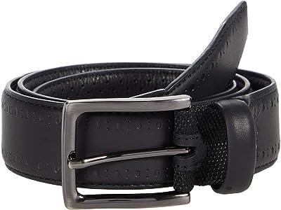 Johnston & Murphy XC4 Perfed Edge Belt (Black Leather) Men