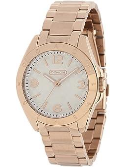 COACH Tristen Rosegold-Plated Bracelet Watch,Silver/Rose Gold