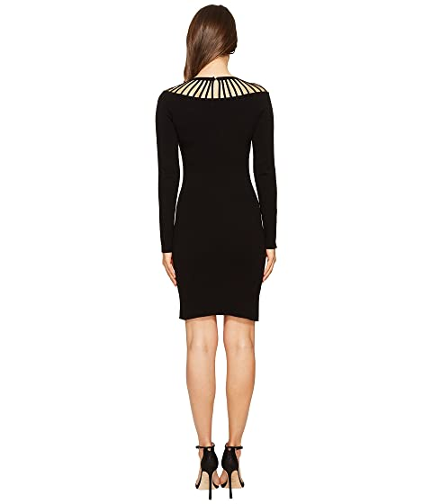 Neck Long Moschino Sleeve Boutique Dress Out Cut Hg8fxpq