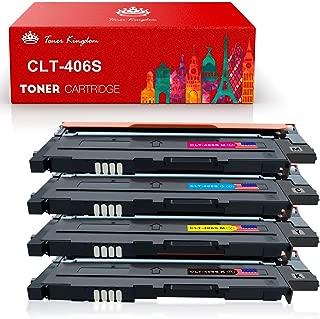 Toner Kingdom Compatible Toner Cartridge Replacement for Samsung CLT-406S for Samsung CLX-3300 CLX-3305 CLX-3305FW CLX-3305FN CLP-360 CLP-365 CLP-365W Xpress SL-C410W SL-C460FW - 4 Pack