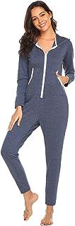 رداء سروالي إكوير نيسيس بسحاب لأعلى قطعة واحدة أساسية طبقات قميص نوم للنساء