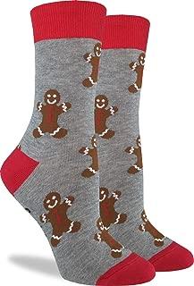 Good Luck Sock Women's Gingerbread Men Christmas Socks - Adult Shoe Size 5-9