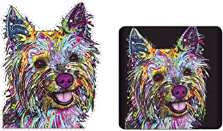 Enjoy It Dean Russo Car Sticker & Vanilla Air Freshener Kit, Yorkie