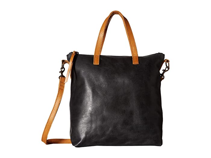 ABLE  Abera Commuter (Black/Cognac) Handbags