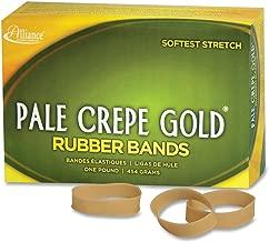 Alliance Rubber Pale Crepe Gold Rubber Bands #82-1 Pound box 20825