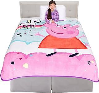 "Franco Kids Bedding Super Soft Plush Micro Raschel Blanket, Twin/Full Size 62"" x 90"", Peppa Pig"