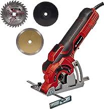 Einhell Minisierra circular manual TC-TC 89 (600 W, ajuste sencillo y sin herramientas de la profundidad de corte hasta 27 mm, bloqueo de husillo, hoja de sierra TCT, tope paralelo)