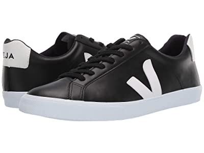 VEJA Esplar Logo (Black/White Leather/White) Men