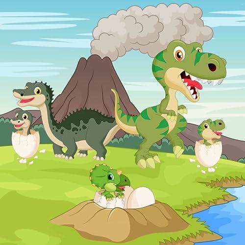 Dinosaurios juego para niños pequeños y niños : descubrir el mundo jurásico de los dinosaurios !