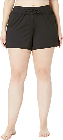 Plus Size Solids Swim Shorts