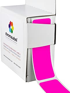 ChromaLabel 1 x 3 inch Color-Code Labels | 100/Dispenser Box (Fluorescent Pink)