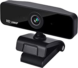 Auto Focus Webcam 1080P, Zoom Skype Web Camera Noise Cancelling Microphone, Skype Zoom Web Cam Full HD for PC Laptop Computer, Plug Play for Windows 10/8 / 7 Mac OS X, Wide Angle Autofocus
